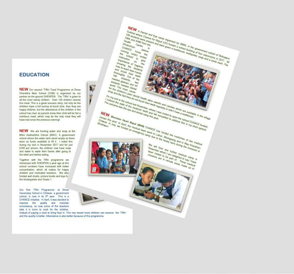 Chance for Nepal Newsletters